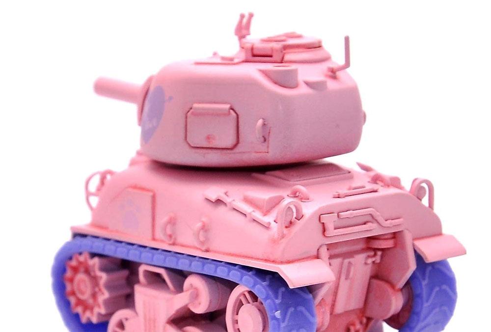 M4A1 シャーマン ピンクバージョン フィギュア付プラモデル(MENG-MODELWORLD WAR TOONSNo.WWP-002S)商品画像_3