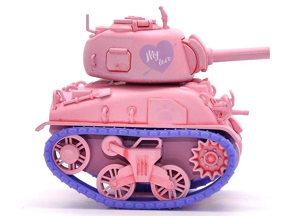 M4A1 シャーマン ピンクバージョン フィギュア付プラモデル(MENG-MODELWORLD WAR TOONSNo.WWP-002S)商品画像_4