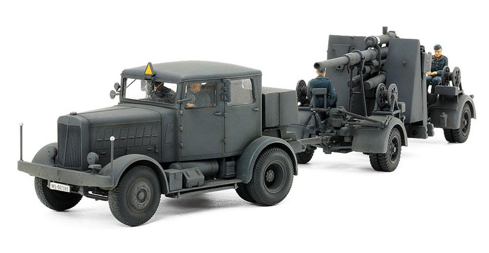 ドイツ 重牽引車 SS-100 88mm砲 FLAK37セットプラモデル(タミヤタミヤ イタレリ シリーズNo.37027)商品画像_1