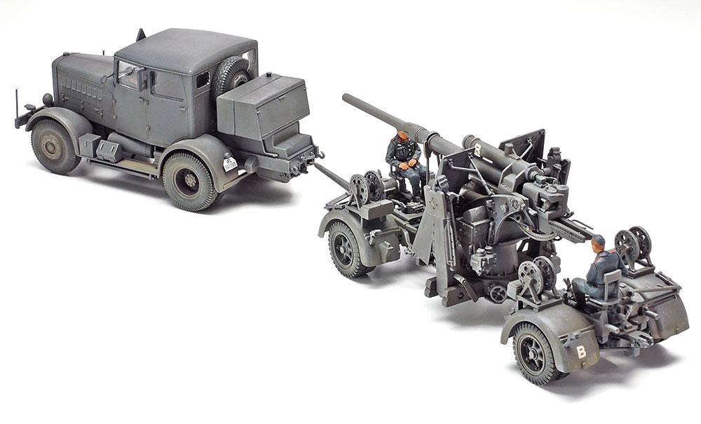 ドイツ 重牽引車 SS-100 88mm砲 FLAK37セットプラモデル(タミヤタミヤ イタレリ シリーズNo.37027)商品画像_2