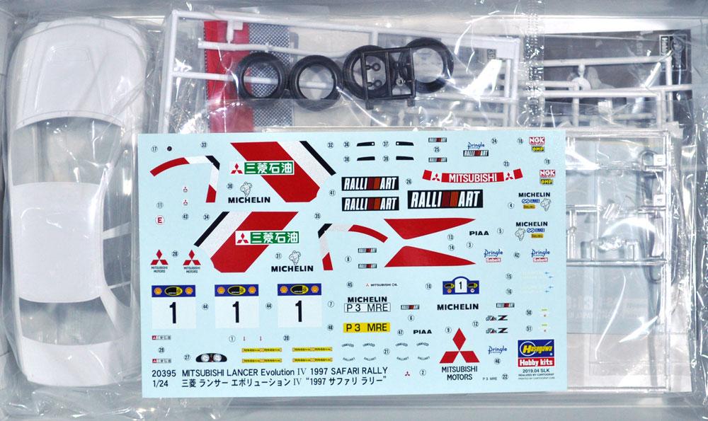三菱 ランサー エボリューション 4 1997 サファリラリープラモデル(ハセガワ1/24 自動車 限定生産No.20395)商品画像_1