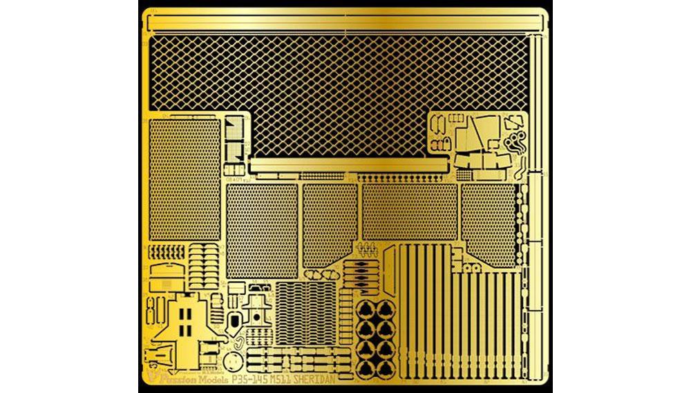 アメリカ 空挺戦車 シェリダン エッチングパーツ (タミヤ用)エッチング(パッションモデルズ1/35 シリーズNo.P35-145)商品画像_1