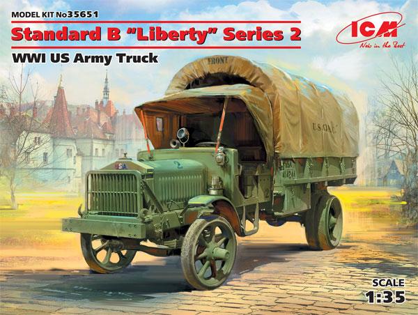 WW1 アメリカ陸軍 トラック スタンダード B リバティ シリーズ 2プラモデル(ICM1/35 ミリタリービークル・フィギュアNo.35651)商品画像