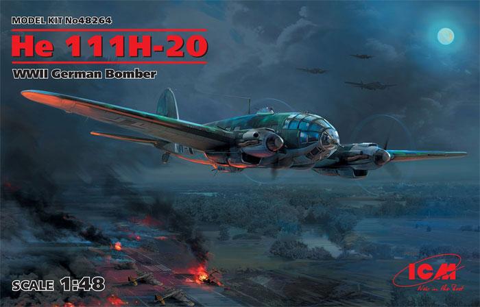 ハインケル He111H-20 爆撃機プラモデル(ICM1/48 エアクラフト プラモデルNo.48264)商品画像