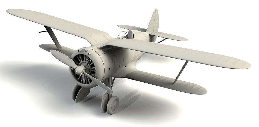 ポリカルポフ I-153 チャイカ 中国 国民党空軍プラモデル(ICM1/72 エアクラフト プラモデルNo.72076)商品画像_2