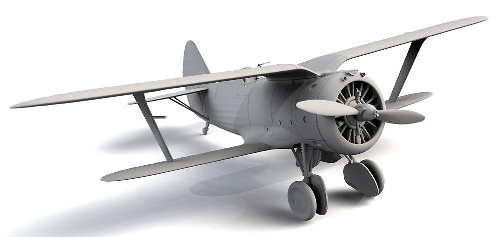 ポリカルポフ I-153 チャイカ 中国 国民党空軍プラモデル(ICM1/72 エアクラフト プラモデルNo.72076)商品画像_4