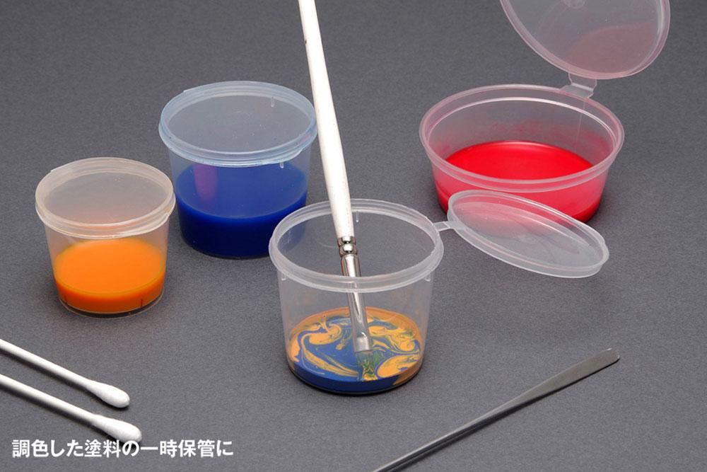 フタ付き PP塗料カップ Mサイズカップ(ウェーブマテリアルNo.OM-412)商品画像_2