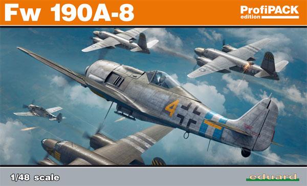フォッケウルフ Fw190A-8プラモデル(エデュアルド1/48 プロフィパックNo.82147)商品画像