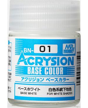 ベースホワイト (BN-01)塗料(GSIクレオス水性カラー アクリジョンNo.BN001)商品画像