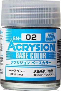 ベースグレー (BN-02)塗料(GSIクレオス水性カラー アクリジョンNo.BN002)商品画像
