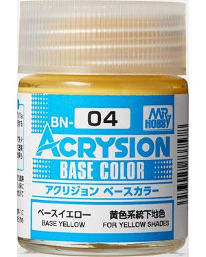ベースイエロー (BN-04)塗料(GSIクレオス水性カラー アクリジョンNo.BN004)商品画像