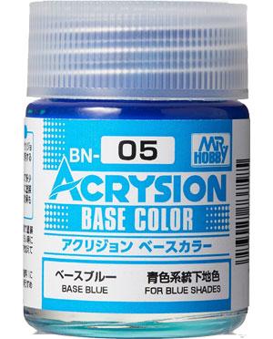 ベースブルー (BN-05)塗料(GSIクレオス水性カラー アクリジョンNo.BN005)商品画像