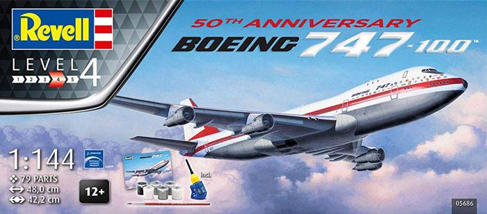 ボーイング 747-100 50thアニバーサリープラモデル(レベル1/144 旅客機No.05686)商品画像