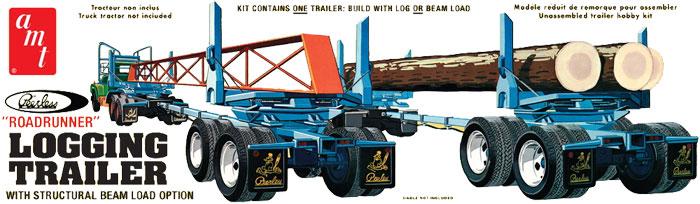 ピアレス 伐木運搬トレーラープラモデル(amt1/25 カーモデルNo.AMT-1103)商品画像