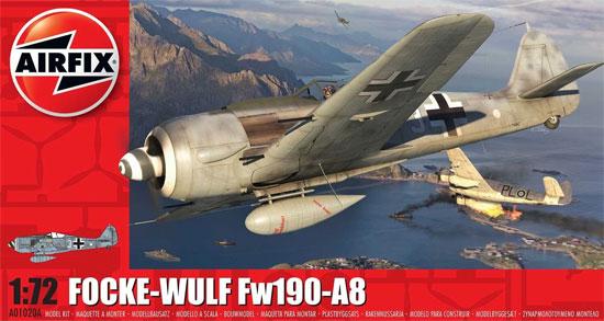 フォッケウルフ Fw190A-8プラモデル(エアフィックス1/72 ミリタリーエアクラフトNo.A01020A)商品画像