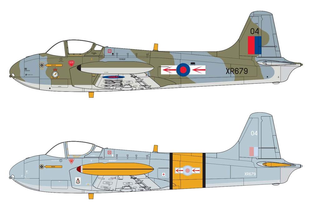 ハンティング パーシヴァル ジェット プロヴォスト T.4プラモデル(エアフィックス1/72 ミリタリーエアクラフトNo.A02107)商品画像_2