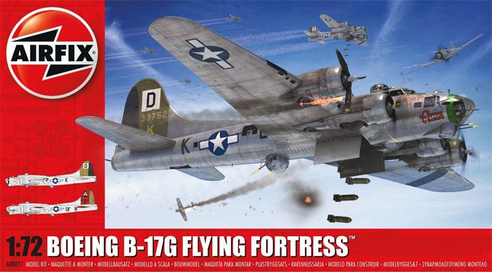 ボーイング B-17G フライングフォートレスプラモデル(エアフィックス1/72 ミリタリーエアクラフトNo.X8017A)商品画像