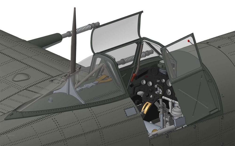 ホーカー タイフーン Mk.1B カードアプラモデル(エアフィックス1/24 ミリタリーエアクラフトNo.A19003)商品画像_2