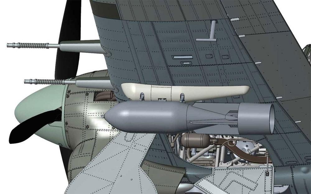 ホーカー タイフーン Mk.1B カードアプラモデル(エアフィックス1/24 ミリタリーエアクラフトNo.A19003)商品画像_3