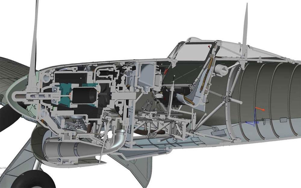 ホーカー タイフーン Mk.1B カードアプラモデル(エアフィックス1/24 ミリタリーエアクラフトNo.A19003)商品画像_4