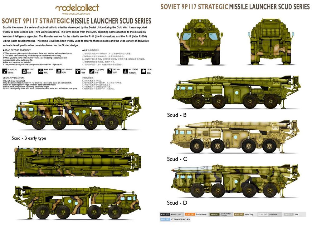 ソビエト 9P117 戦略ミサイルランチャー スカッドCプラモデル(モデルコレクト1/72 AFV キットNo.UA72185)商品画像_2