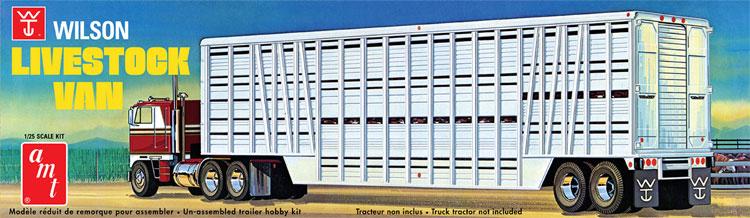 ウイルソン 家畜輸送 トレーラーバンプラモデル(amt1/25 カーモデルNo.AMT1106/06)商品画像