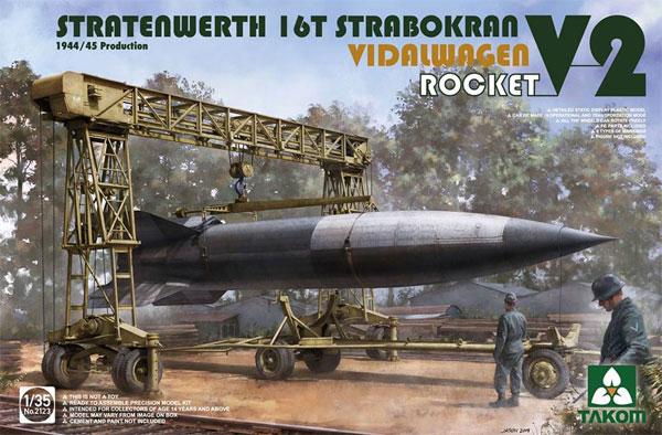 シュトラーテンヴェルト社 16t ガントリークレーン w/フィダルワーゲン & V2ロケット 1944/45年生産型プラモデル(タコム1/35 ミリタリーNo.2123)商品画像