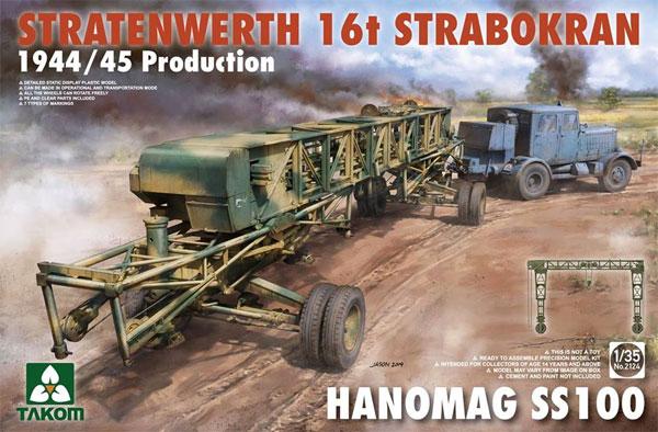 シュトラーテンヴェルト社 16t ガントリークレーン w/ハノマーグ SS100 トラクター 1944/45年生産型プラモデル(タコム1/35 ミリタリーNo.TKO2124)商品画像