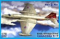 ミクロミル1/72 エアクラフト プラモデルイングリッシュ エレクトリック キャンベラ T.17
