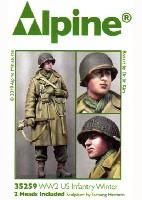 アルパイン1/35 フィギュアWW2 アメリカ陸軍 カービン銃を持つ冬季装備の下士官
