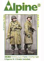 アルパイン1/35 フィギュアWW2 アメリカ陸軍 冬支度を整えた兵士 (2体セット)