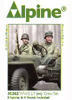 WW2 アメリカ陸軍 小型車両に搭乗する士官と兵士 (2体セット)