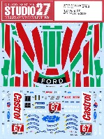 スタジオ27ツーリングカー/GTカー オリジナルデカールフォード GT #67 デイトナ 2019 デカール