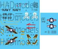 アメリカ海軍 F-14A トムキャット VF-84 ジョリーロジャーズ #201 ハイビジ デカール
