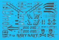 アメリカ海軍 F-14A トムキャット VF-84 ジョリーロジャーズ #200 ロービジ デカール
