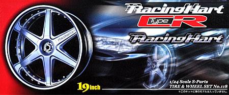 レーシングハート type CR (19インチ)プラモデル(アオシマ1/24 Sパーツ タイヤ&ホイールNo.118)商品画像