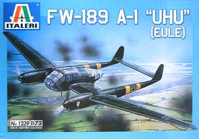 フォッケウルフ Fw189 A1 ウーフープラモデル(イタレリ1/72 航空機シリーズNo.1239)商品画像