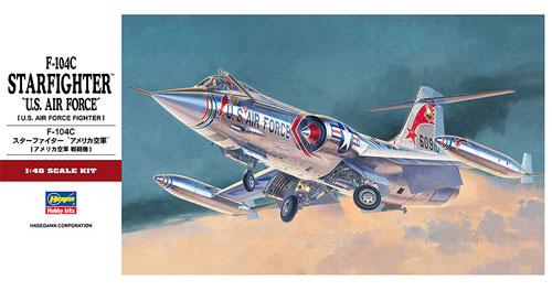 F-104C スターファイター アメリカ空軍プラモデル(ハセガワ1/48 飛行機 PTシリーズNo.PT019)商品画像