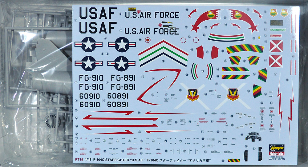 F-104C スターファイター アメリカ空軍プラモデル(ハセガワ1/48 飛行機 PTシリーズNo.PT019)商品画像_1