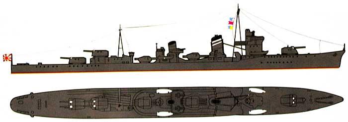 日本駆逐艦 陽炎 1941プラモデル(アオシマ1/700 ウォーターラインシリーズNo.442)商品画像_1