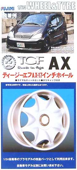 ティージーエフ AX 17インチホイール (TGF AX)プラモデル(フジミ1/24 ニュータイヤ&ホイールNo.O)商品画像