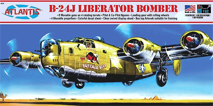 B-24J リベレーター バッファロービルプラモデル(アトランティスプラスチックモデルキットNo.H218)商品画像