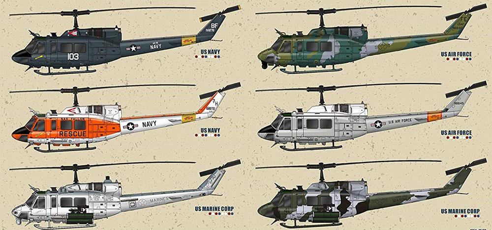 UH-1N ツインヒューイプラモデル(キティホーク1/48 ミリタリーNo.KH80158)商品画像_2