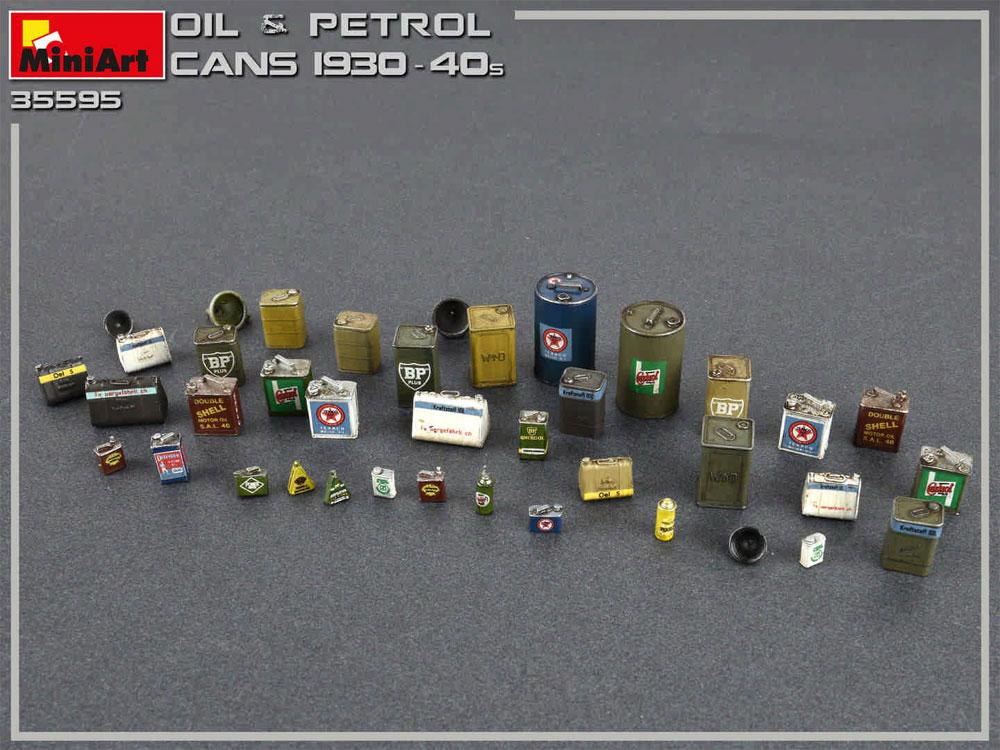 油 & 石油缶セット 1930-40年代プラモデル(ミニアート1/35 ビルディング&アクセサリー シリーズNo.35595)商品画像_3