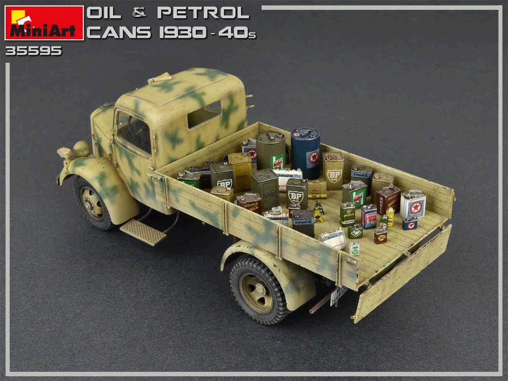 油 & 石油缶セット 1930-40年代プラモデル(ミニアート1/35 ビルディング&アクセサリー シリーズNo.35595)商品画像_4