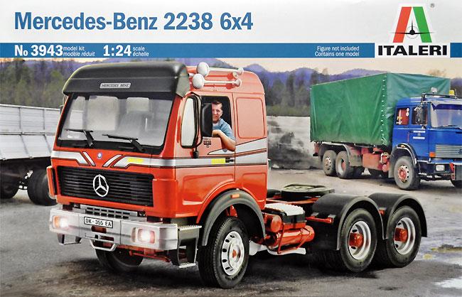 メルセデス ベンツ 2238 6X4 トラックプラモデル(イタレリ1/24 トラックシリーズNo.3943)商品画像
