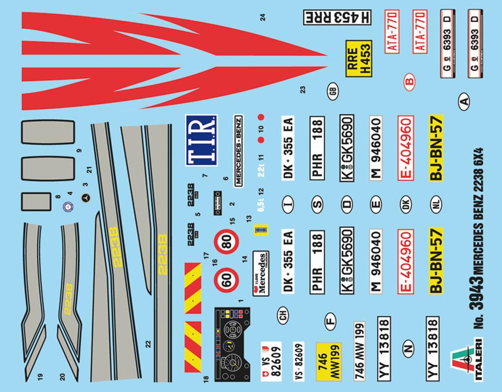 メルセデス ベンツ 2238 6X4 トラックプラモデル(イタレリ1/24 トラックシリーズNo.3943)商品画像_1