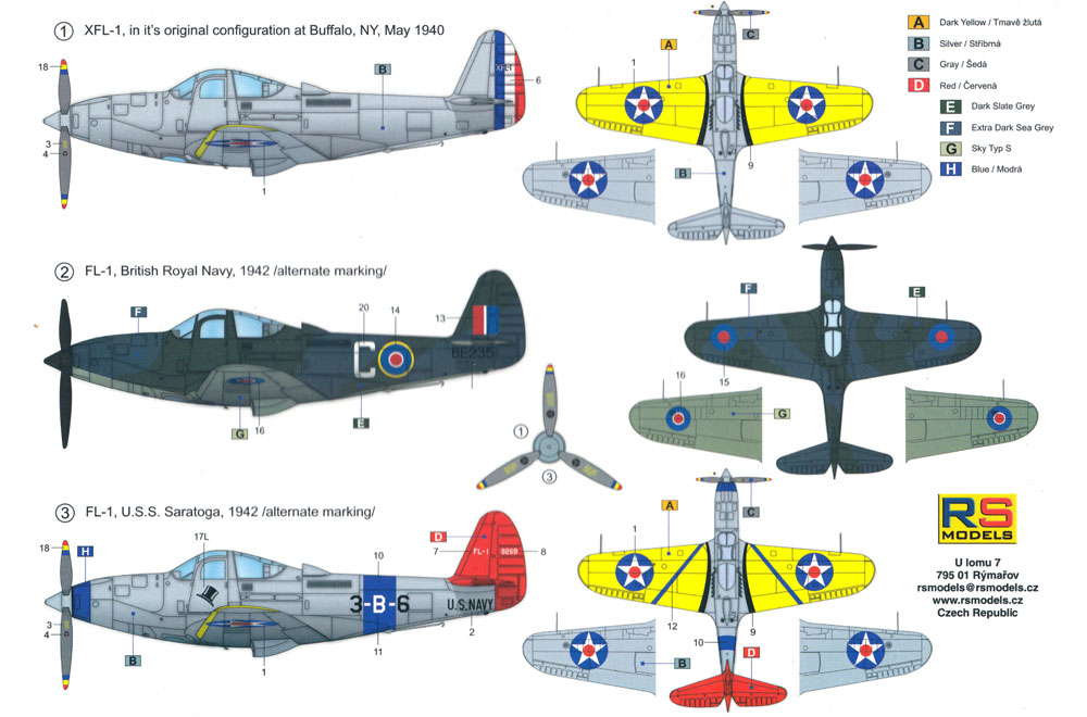 XFL-1 エアロボニータ アメリカ海軍 戦闘機プラモデル(RSモデル1/72 エアクラフト プラモデルNo.92232)商品画像_1