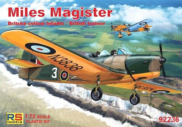マイルズ マジスター イギリス 練習機プラモデル(RSモデル1/72 エアクラフト プラモデルNo.92236)商品画像
