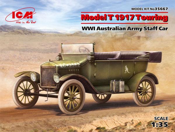 T型フォード 1917 オーストラリア陸軍 スタッフカープラモデル(ICM1/35 ミリタリービークル・フィギュアNo.35667)商品画像